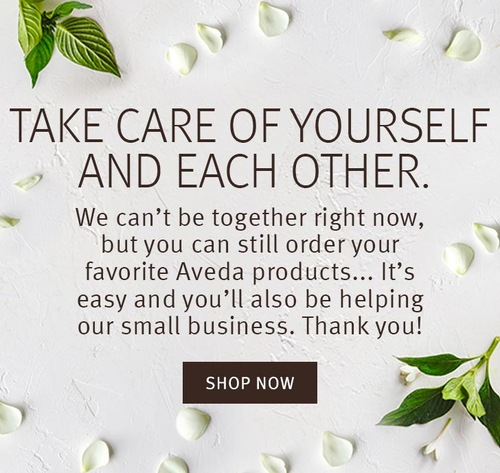 Help our small business by shopping for Aveda Products